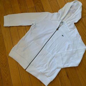 Lacoste 3/4 Sleeve Zipper Hoodie NWOT